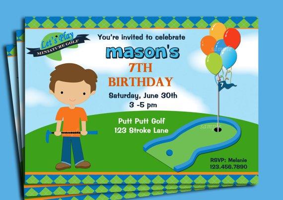 Printable Mini Golf Invitations – Mini Golf Birthday Party Invitations