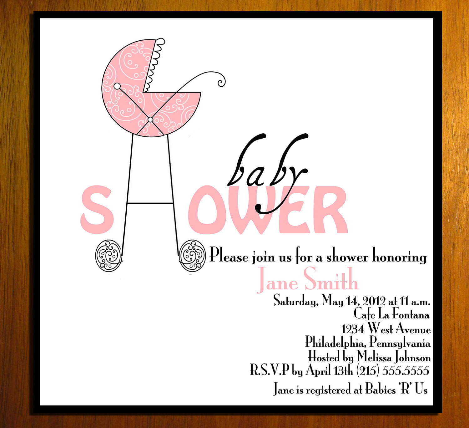 Free Printable Mustache Baby Shower Invitation Templates