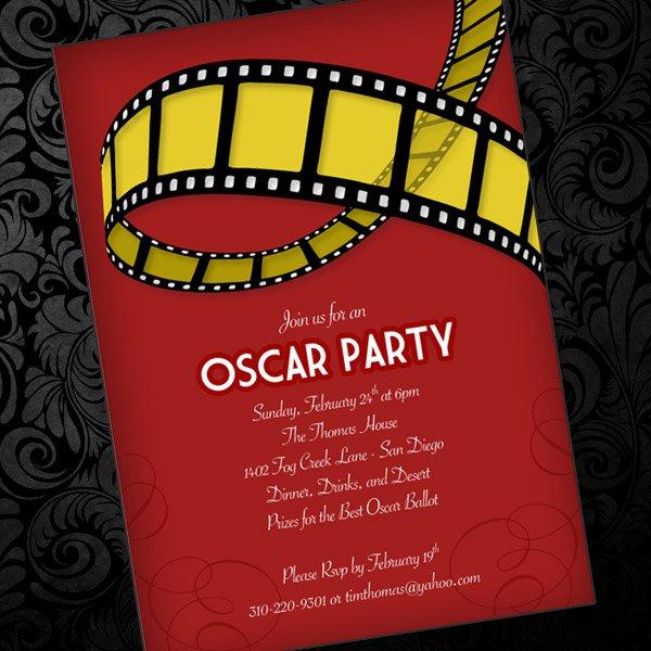 Free Printable Oscar Themed Invitations
