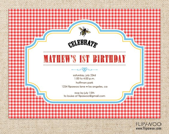Free Printable Picnic Invitations Templates