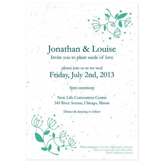 Free Printable Post Wedding Reception Invitations