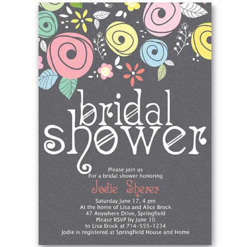 Free Printable Purple Bridal Shower Invitations