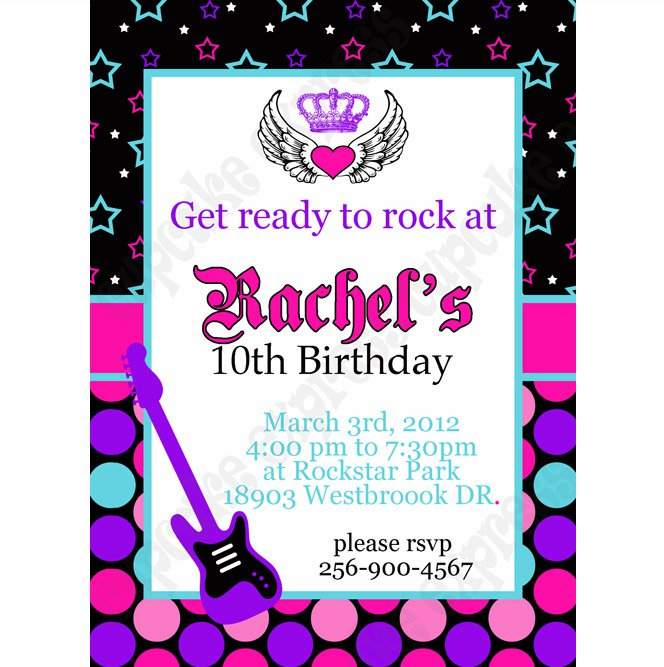 Free Printable Rockstar Invitations