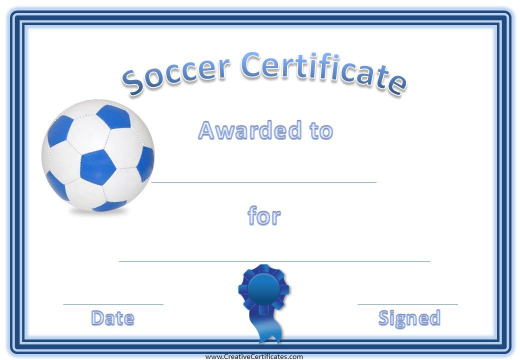 Astounding image within printable soccer certificates