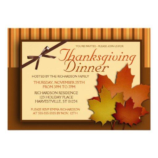 Free Printable Thanksgiving Dinner Invitations