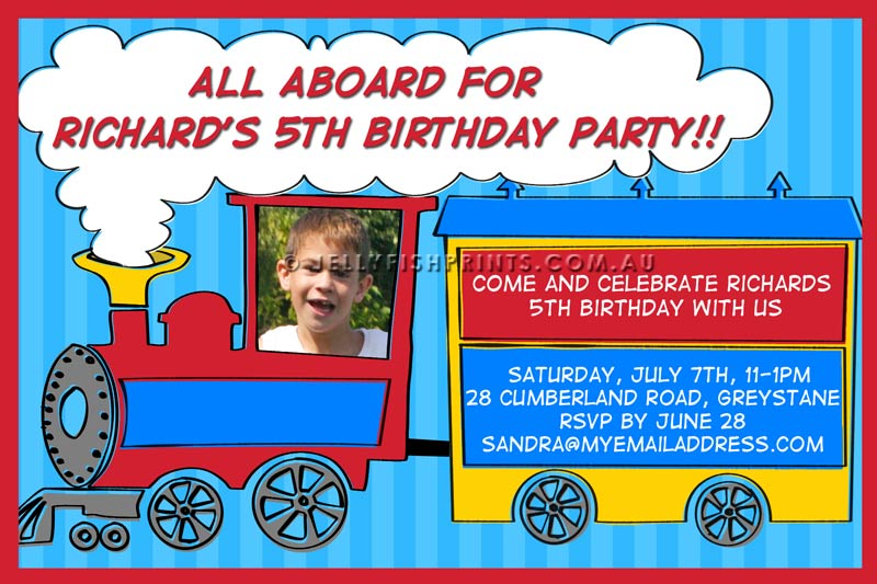Free Printable Train Party Invitations