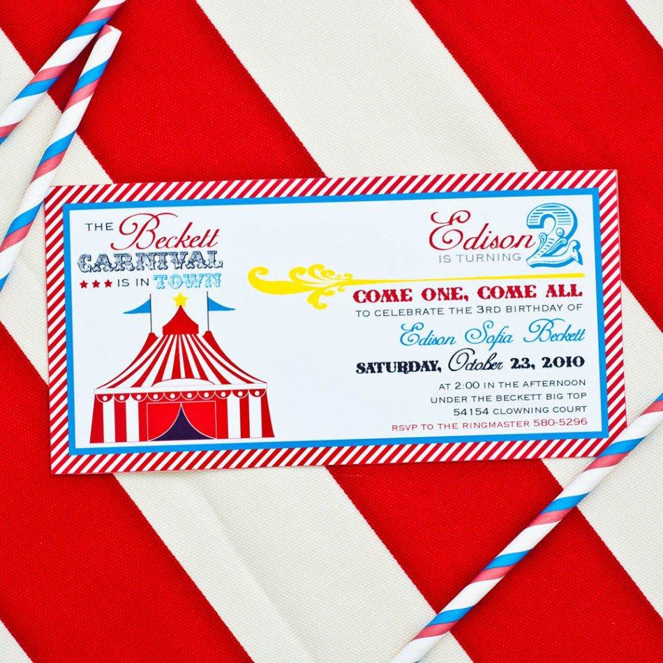 Free Printable Vintage Circus Party Invitations