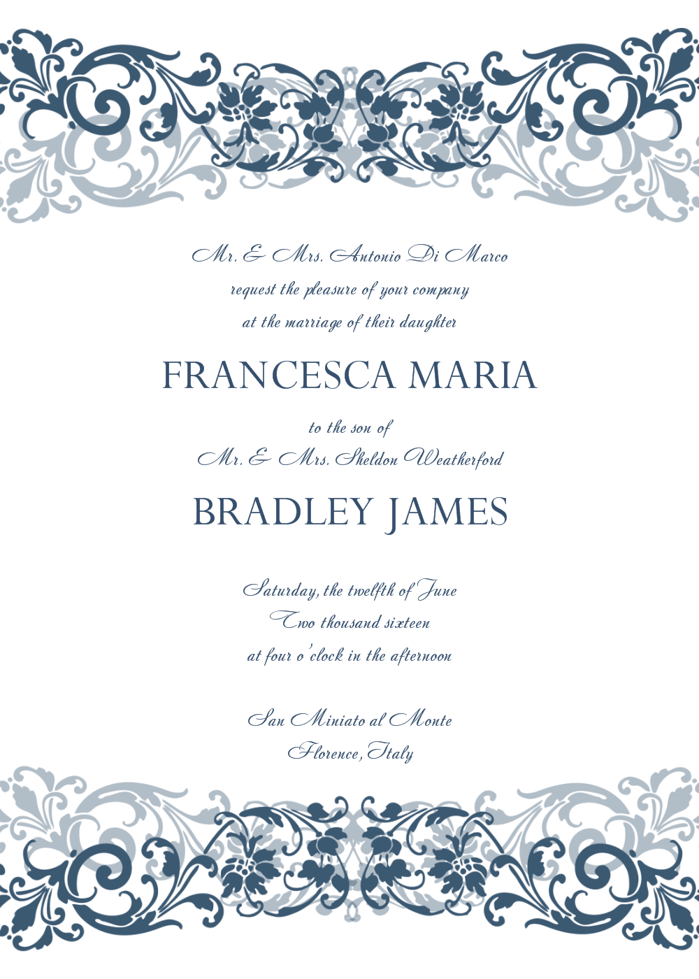 Free Printable Wedding Reception Invitation Templates