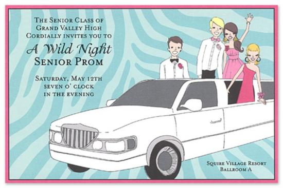 Prom send off invitation 550 x 367 stopboris Image collections