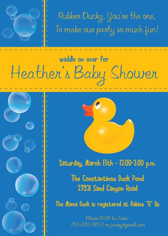 Free Rubber Ducky Invitation Template