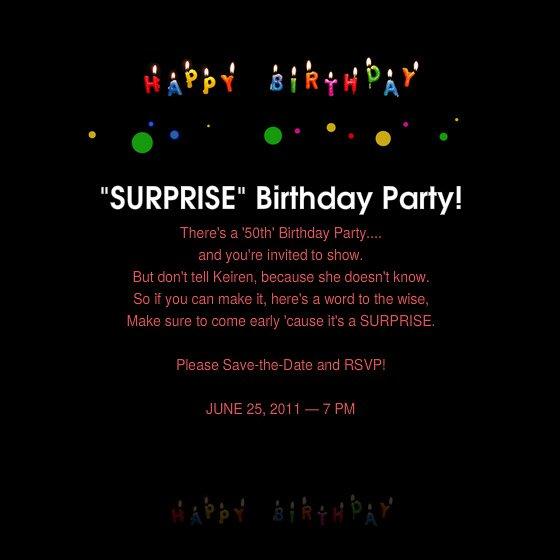 Free Surprise Birthday Party Invitations Printable
