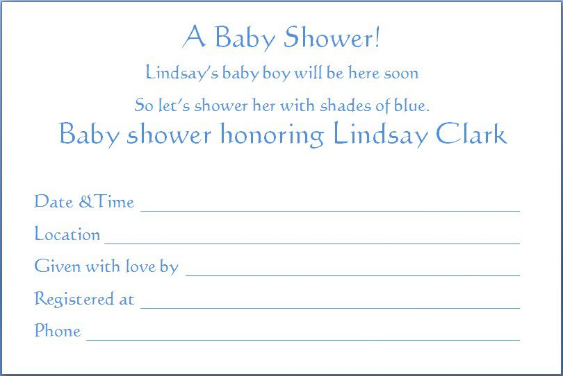 Free Templates For Baby Boy Shower Invitations
