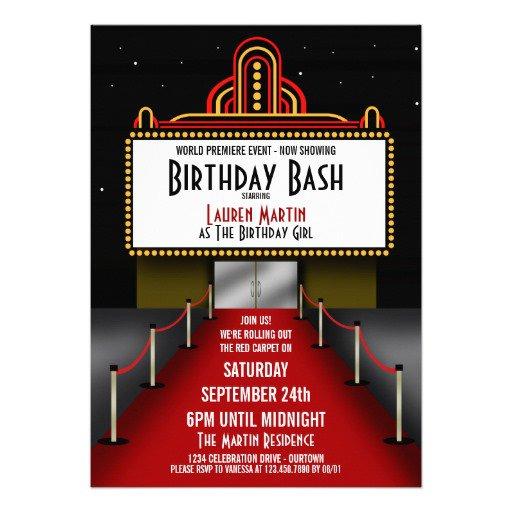 Free Theater Invitation Templates