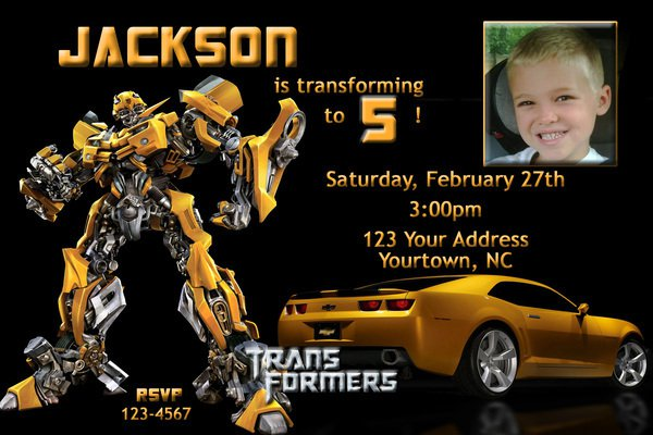 Free Transformers Party Invitation Template