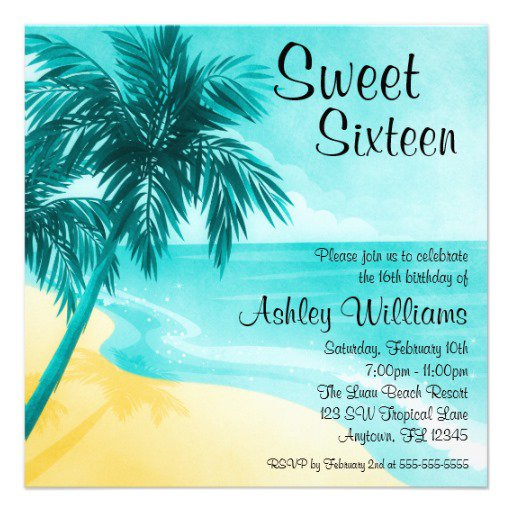 Free Tropical Invitation Templates