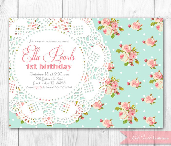 Vintage Birthday Invitations Print - Retro birthday invitation template