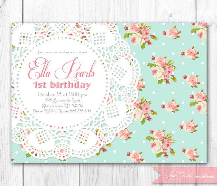 Free Vintage Birthday Invitation Printables