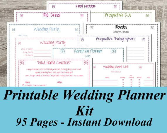 Free Wedding Planner Book Pdf