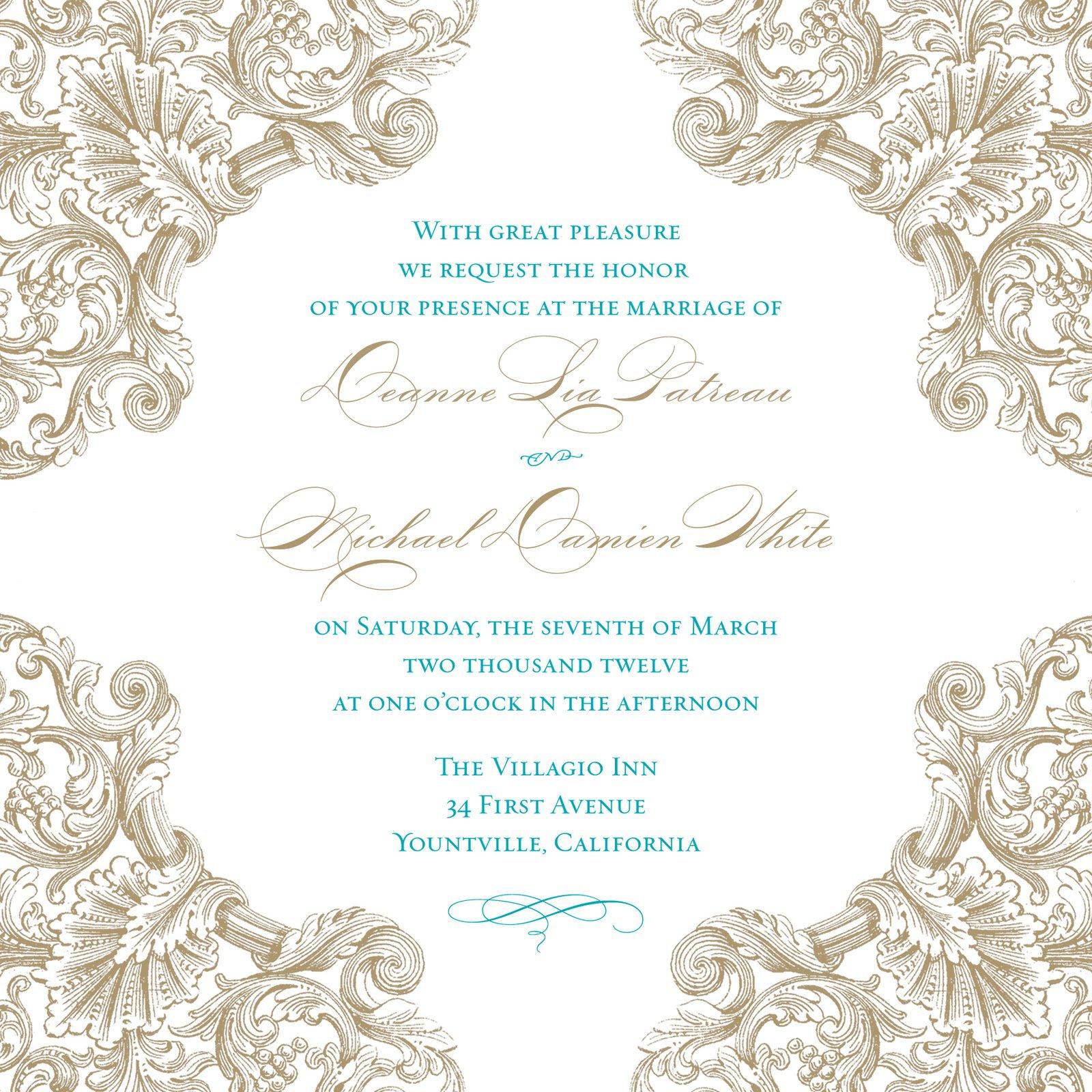 Free Wedding Pocket Invitation Templates