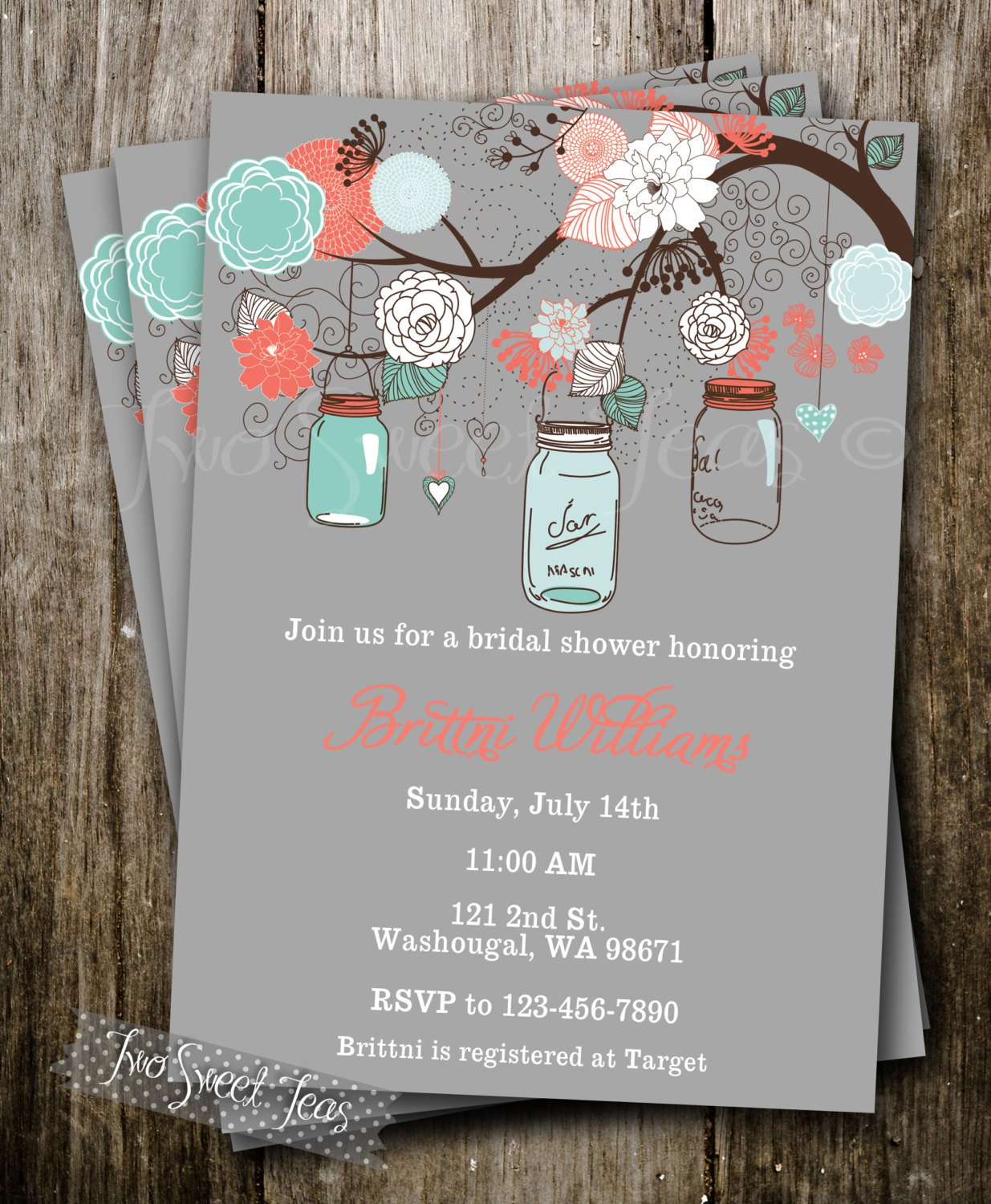 French Country Wedding Shower Invitations