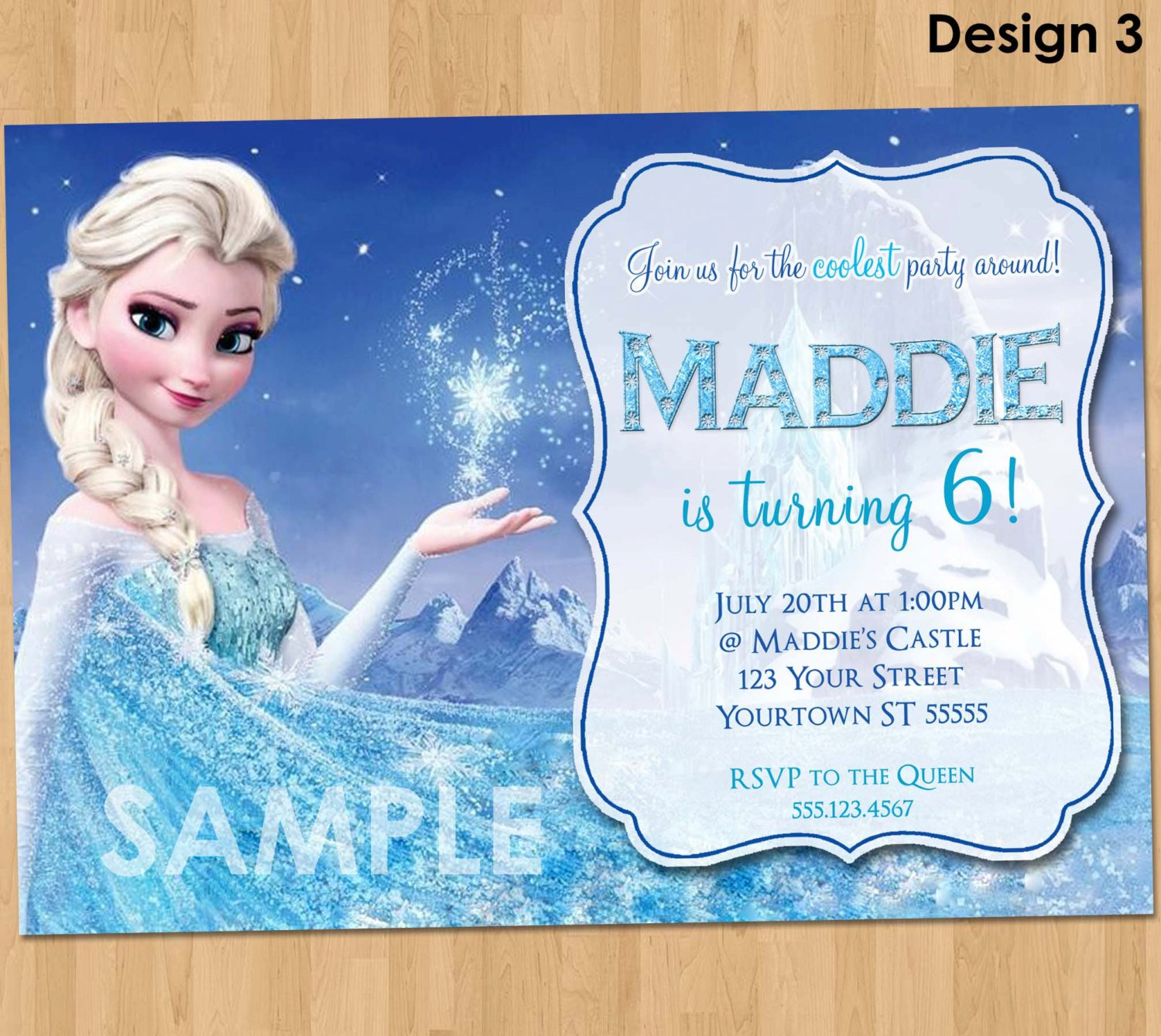 Frozen Birthday Party Downloadable Invitations