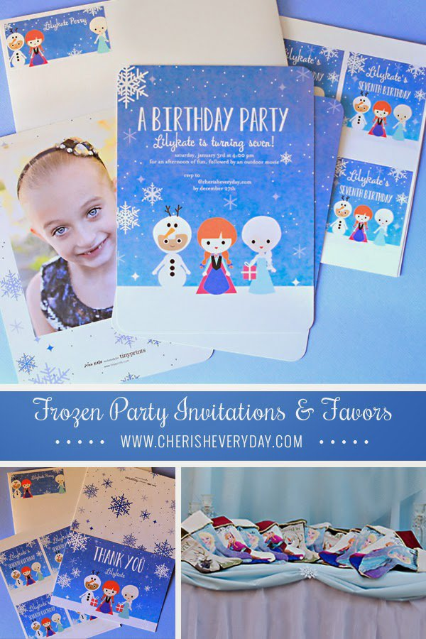 Frozen Birthday Party Invitation For A 4 Year Old