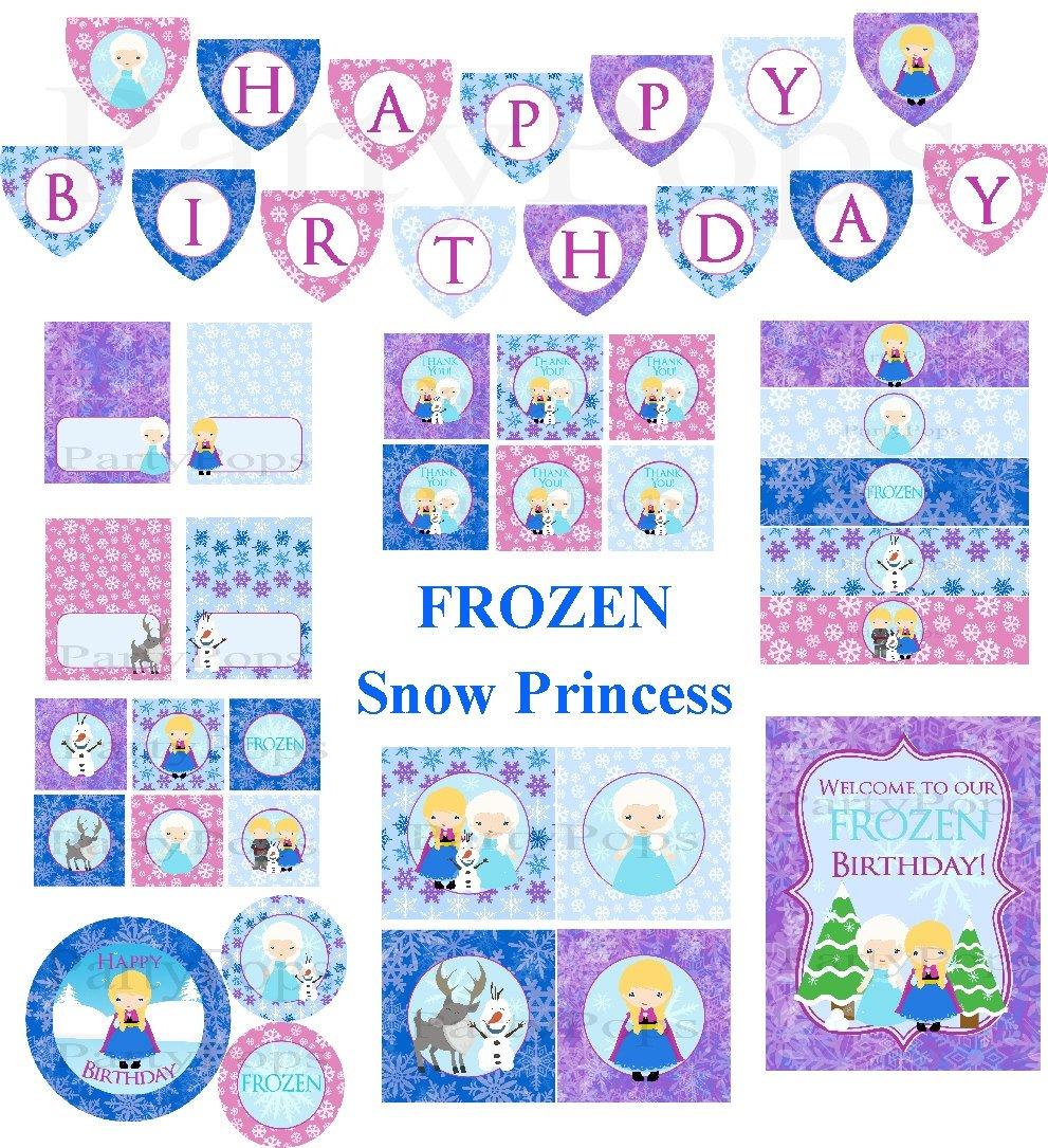 Frozen Birthday Party Invitation Printable
