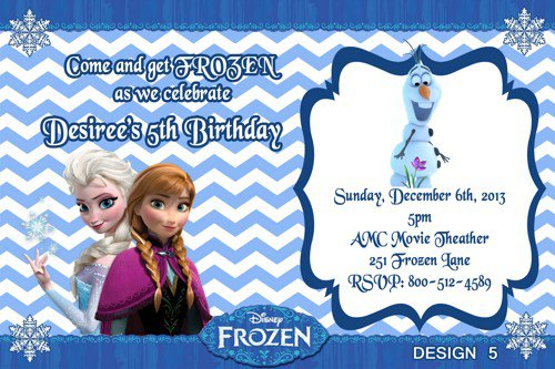 Frozen Birthday Party Invitations Template Free