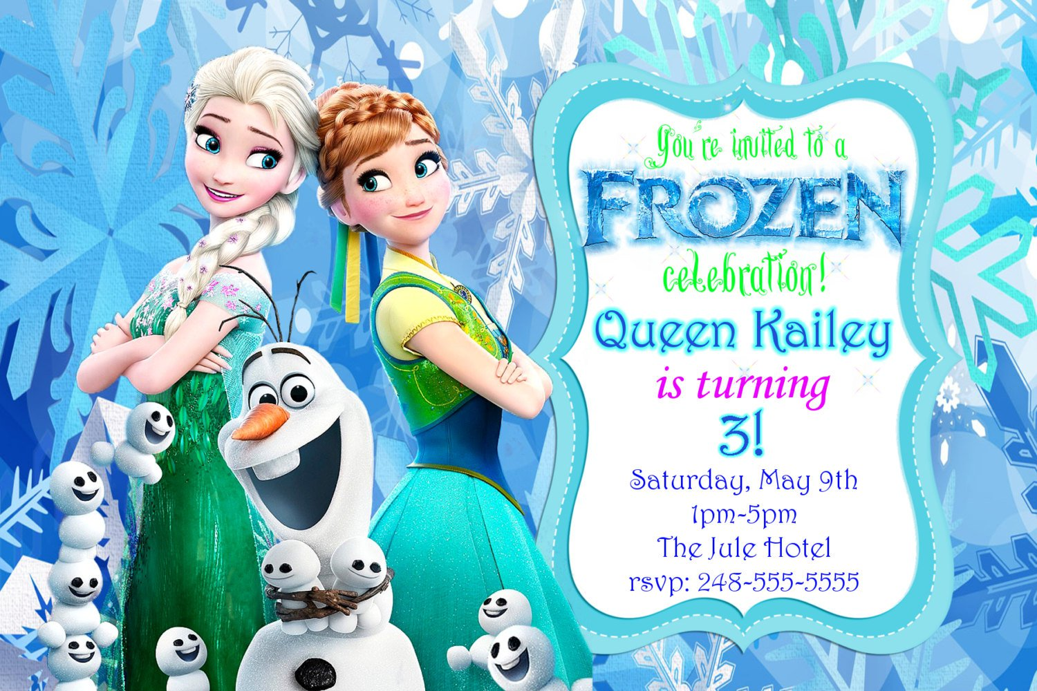 frozen fever invitation templates