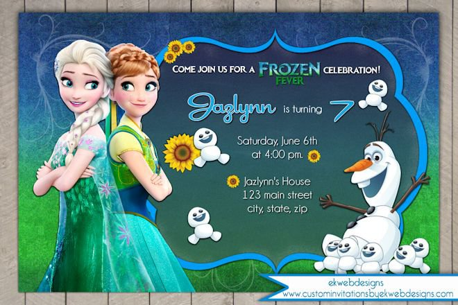 Frozen Fever Personalized Invitations
