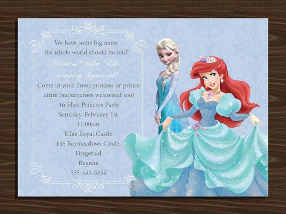 Frozen Invitation Anna And Ariel