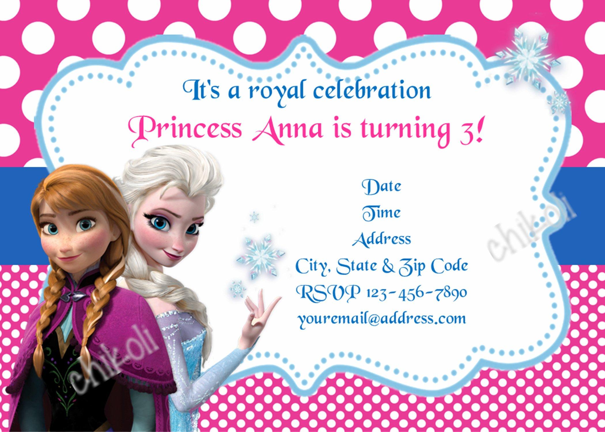 Frozen Invitation Ideas Pinterest