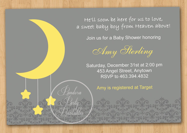 full moon baby invitation message