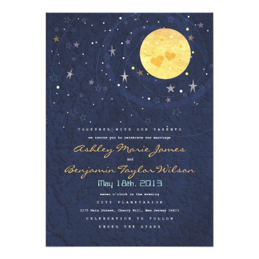Full Moon Wedding Invitations