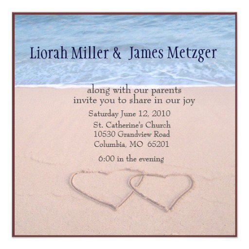 Fun Beach Wedding Invitation Wording