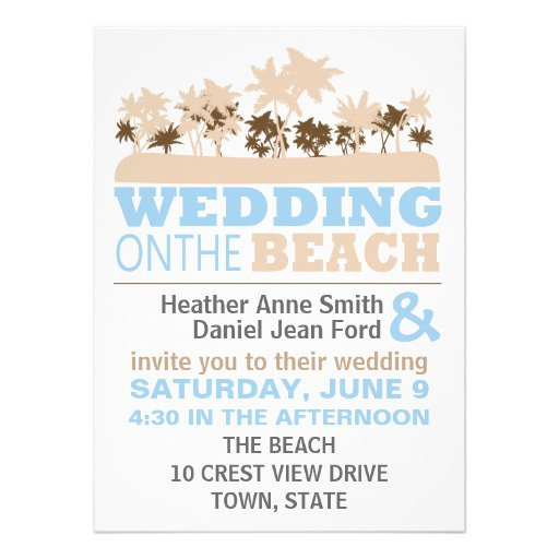 fun beach wedding invitations - Beach Wedding Invitation Wording