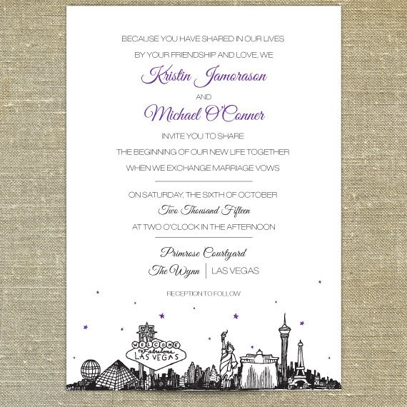 funny las vegas wedding invitation wording - new wedding, Wedding invitations