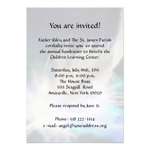 Fundraiser Invitation Copy
