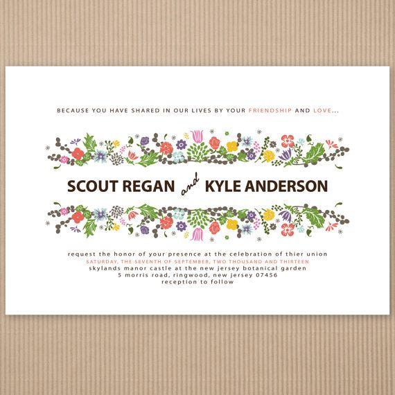 Funky Wedding Invitation Wording Examples