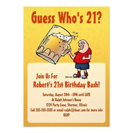 Funny 21st Birthday Invitations