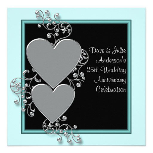 25th wedding anniversary invitations funny