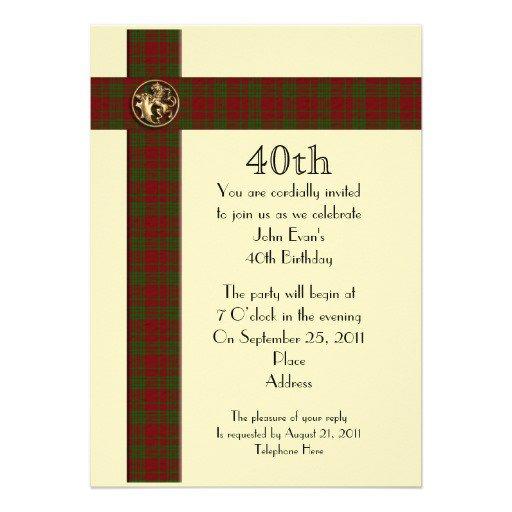 Funny 40th Birthday Party Invitations