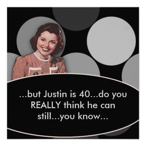 Funny 40th Birthday Party Invitations Wording