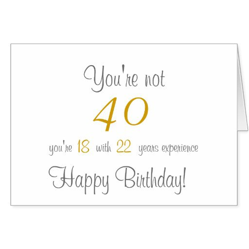 Funny 40th Invitations