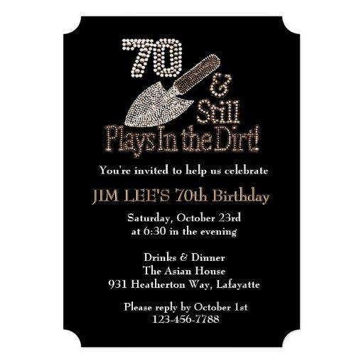 Funny 70th Birthday Party Invitations