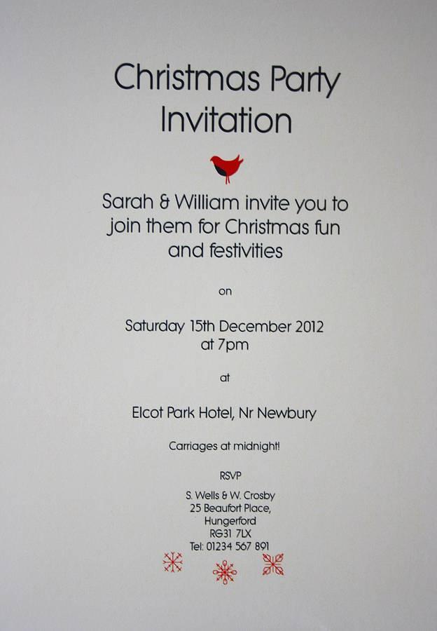 Funny Christmas Invitation Wording Ideas