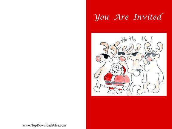 Funny Christmas Invitations Templates Free