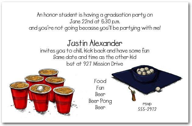 Funny Graduation Invitation Templates