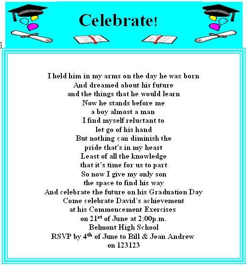 Funny High School Graduation Invitation Sayings