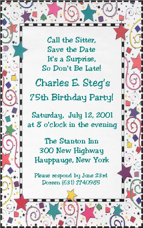 Funny Invitations To A Birthday Party